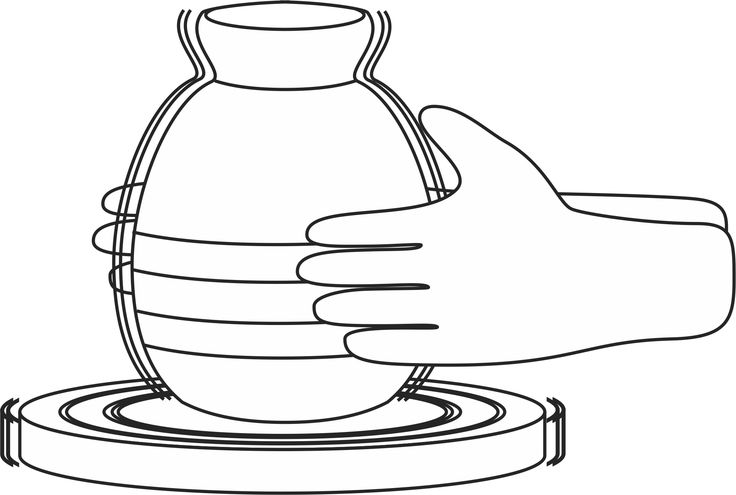 printable clay pot coloring pages - photo#9