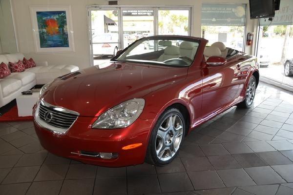 2007 Lexus SC430 for sale at best price in car dealership in Fort Lauderdale, Florida.