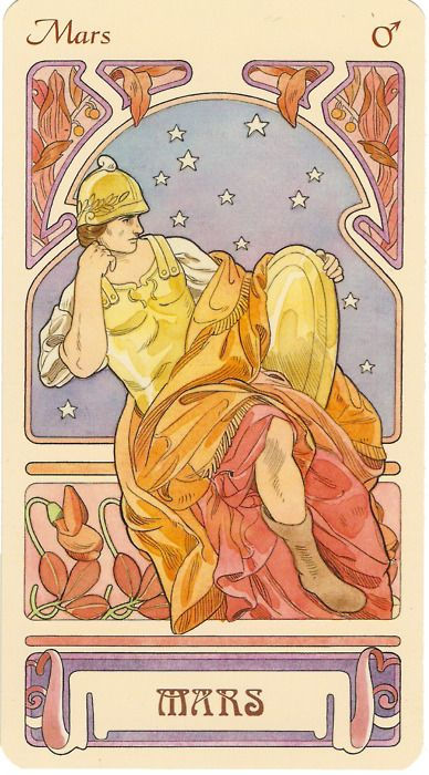 Mars-- rules the zodiac signs of Aries and maybe/sometimes Scorpio-- corresponds to the first house (Self, ego, personal identity, conscious awareness).