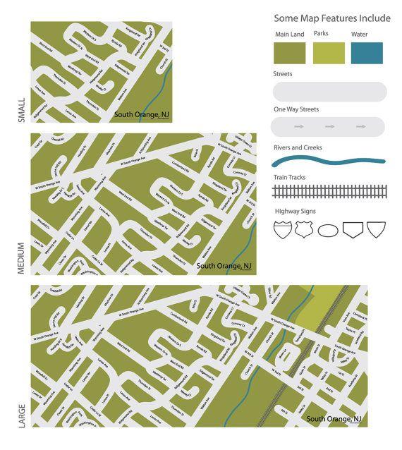 I am Here  Your neighborhood custom map play mat  by boardstiff, $53.50