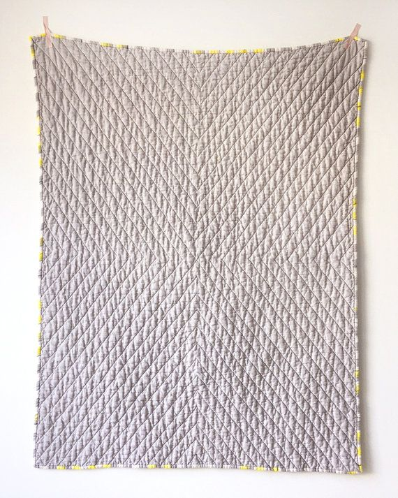 Linen Quilted Baby Blanket - Made to Order