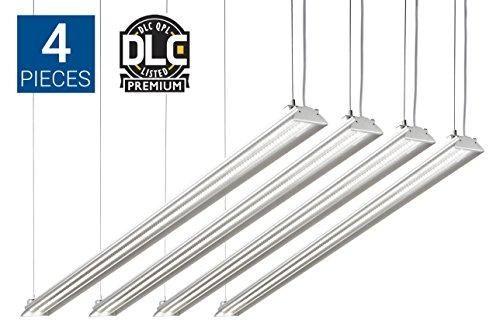 Utility LED Shop Light, 4FT LED Fixture Garage Light, DLC 4.2 Premium Qualified, 35W-4PK