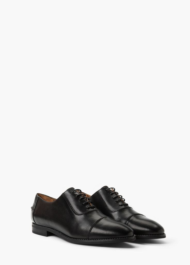 Leather Oxford shoes - Any lace Up Leather Menswear Shoe