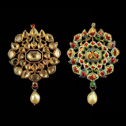 A Diamond and Pearl Pendant, India 18 th Century