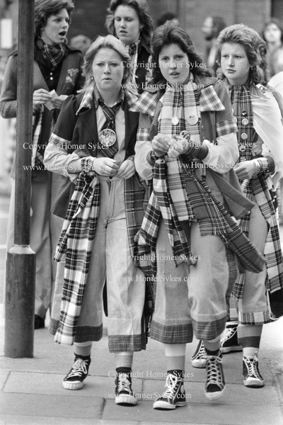"""Bay City Rollers pop , boy band fans, Newcastle UK 1970s HOMER SYKES homersykes.photoshelter.com/ KEYWORD """" bay city rollers """" I really loved the Bay City Rollers. Please check out my website Thanks www.photopix.co.nz"""