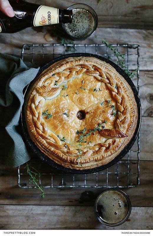 Easy to make Beef & Stout pie with vanilla rice pudding and caramelized pears! The perfect winter meal! https://www.theprettyblog.com/food/beef-stout-pie-with-vanilla-rice-pudding-caramelised-pears/?utm_campaign=coschedule&utm_source=pinterest&utm_medium=The%20Pretty%20Blog&utm_content=Beef%20and%20Stout%20Pie%20with%20Vanilla%20Rice%20Pudding%20and%20Caramelised%20Pears