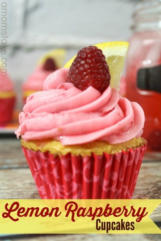 These homemade lemon raspberry cupcakes are made from scratch and give a perfect blend of sweet and tart! Delicious cupcakes that scream for summertime!