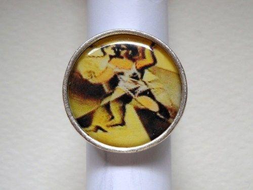 Adjustable handmade silver alloy image ring | pavlos - Jewelry on ArtFire