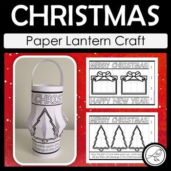 Celebrate the Christmas Season with these paper lanterns. Lots of different options to choose from. Click on the PREVIEW button above to see them all. A 'Happy Holidays' template is also included for your students who don't celebrate Christmas. Bonus Inclusion:
