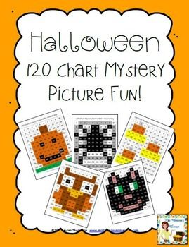 Halloween Place Value Fun - 120 Chart Mystery Pictures!