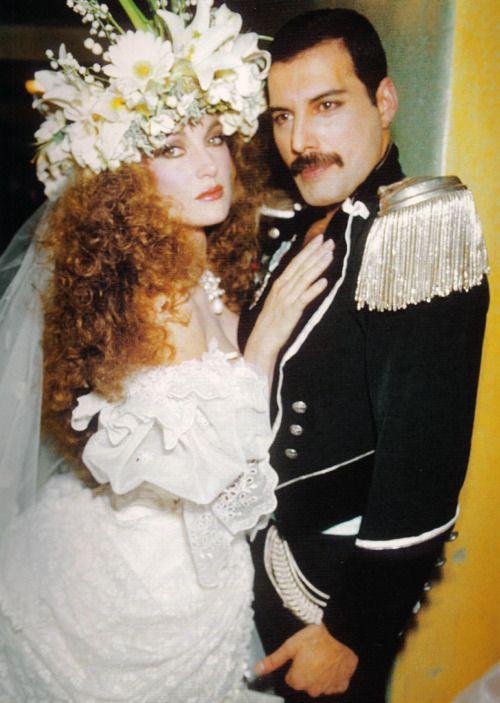 Freddie Mercury and Jane Seymour at Fashion Aid, 1985. <3