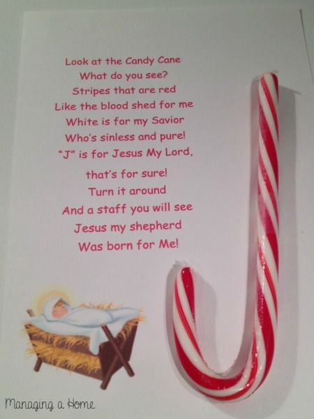 Candy Cane with Poem for Operation Christmas Child Printable | Managing a Home