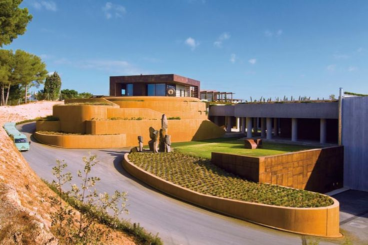 wineries - waltraud cellar for bodegas torres - spain By Javier Barba - BC Estudio Architects. www.greenarchitecture.com