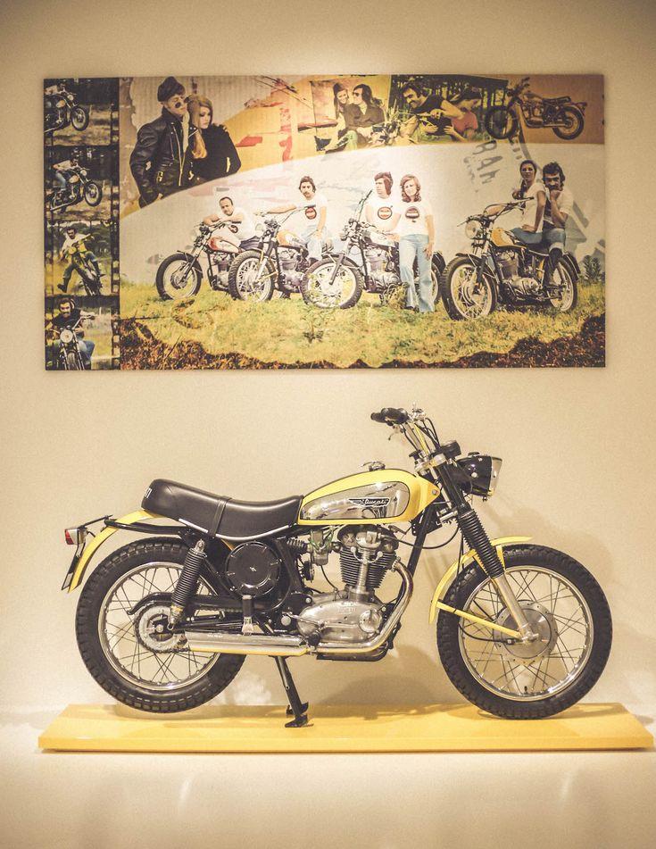 Bologna Museum old motorcycle Ducati Scrambler