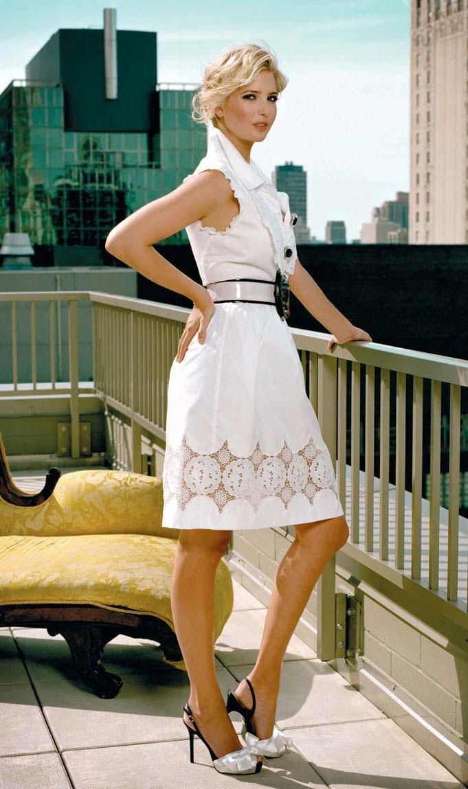 Ivanka Trump in White Dress @ VIR4L.com