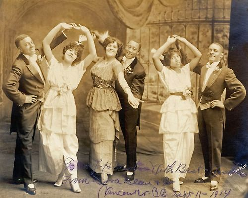 """""""The Black Venus,"""" Friday 11 September 1914 Dora Dean (third from left) and her husband Charles Johnson were one of the most successful African American vaudeville acts in their day."""