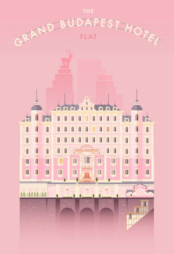 The Grand Budapest Hotel - Flat Illustration by Lorena G