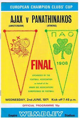 Catenaccio: Análise Tática - Ajax x Panathinaikos - 02/07/1971