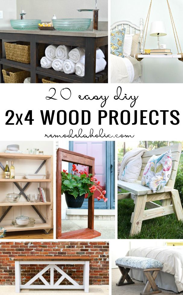 20 Easy DIY 2x4 Wood Projects | Get building with these easy DIY projects built from inexpensive 2x4 wood boards available at any hardware or lumber store