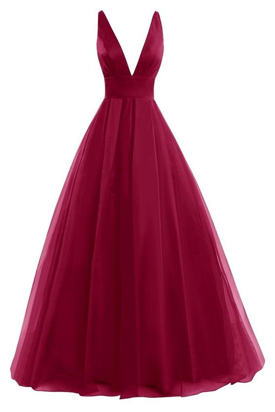 2017 Custom Made Chiffon Prom Dress,Deep V-Neck Evening Dress,Sleeveless Party Dress,Floor Length Prom Dress,High Quality