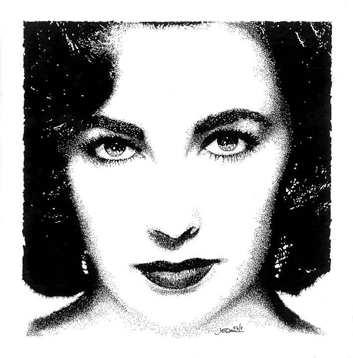 "Omaggio a Liz Taylor"" - 23.03.2011 China su carta - dim. 20x20 cm"