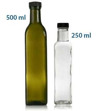 MARASCA - SQUARE GLASS BOTTLES