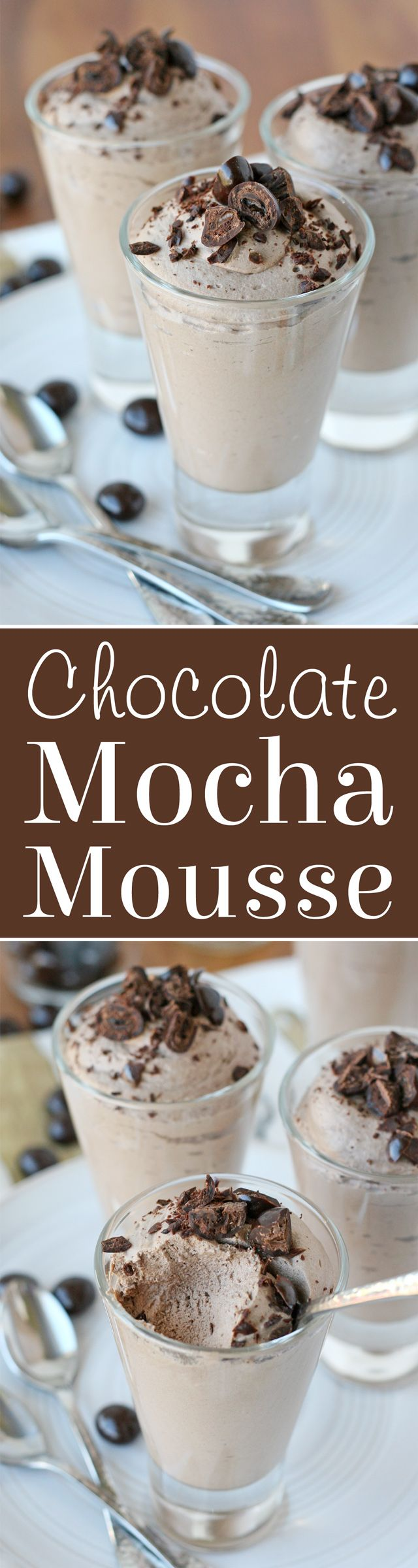 Creamy, fluffy, delicious MOCHA MOUSSE RECIPE
