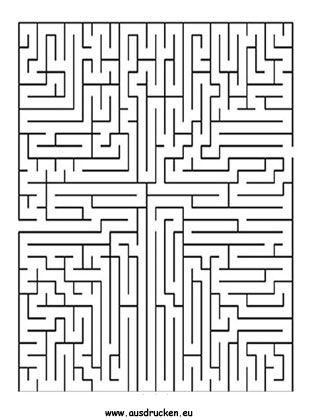 Labyrinth zum ausdrucken