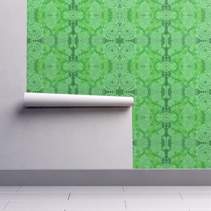 Isobar Durable Wallpaper featuring Ulva Dantela Lace by joancaronil | Roostery Home Decor