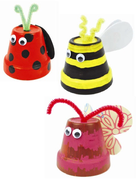 A.C. Moore Clay Pot Critters #claypot #craft