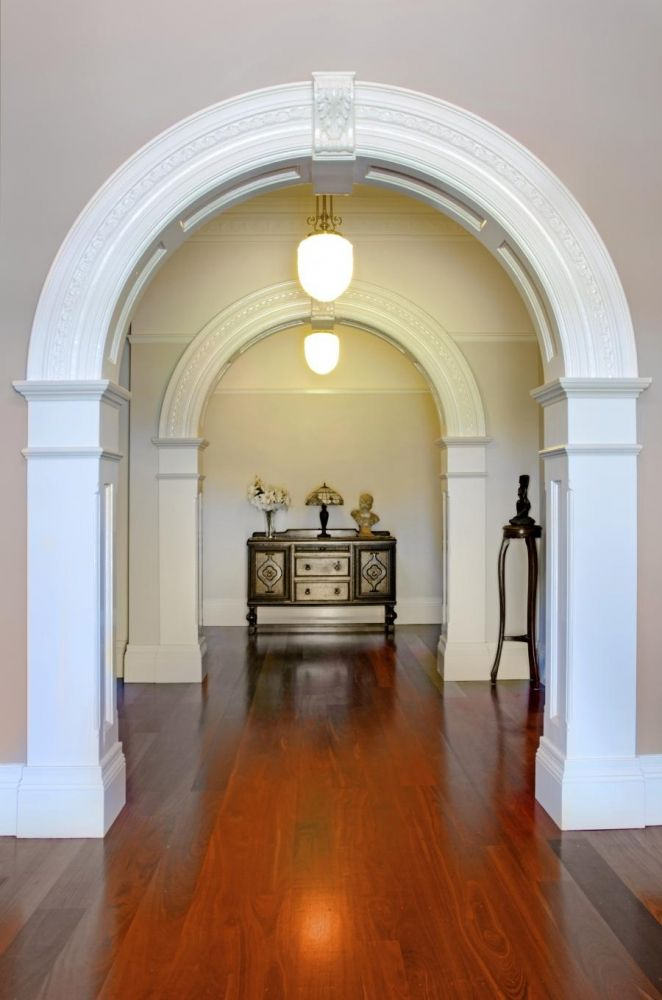 Large Custom Archways made to suit Dimensions & design with AFP13 Wrap around Pilasters below Archway.