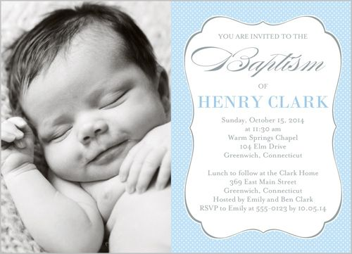 Cross Of Boy Invitation Card Baptism Invitations Shutterfly - sample baptismal invitation for twins