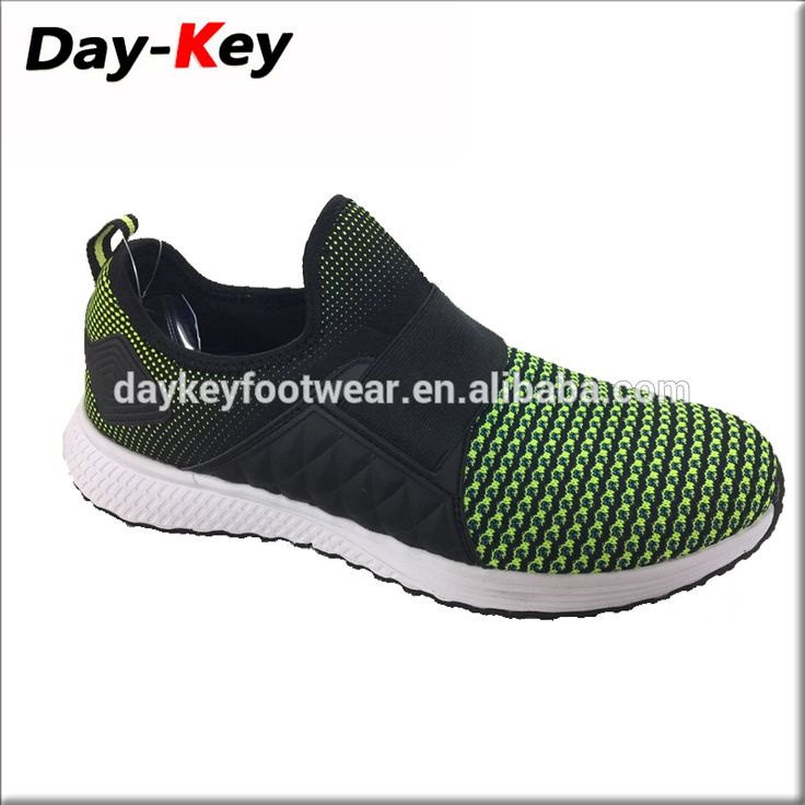 Latest design adults fly knit fabric running sports shoe for men