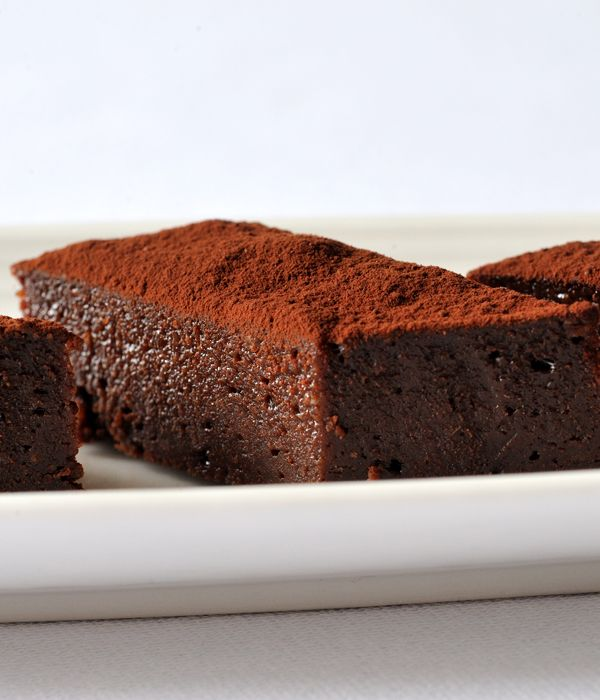 These dark chocolate and fudge brownies from Nathan Outlaw are a grown-up treat.