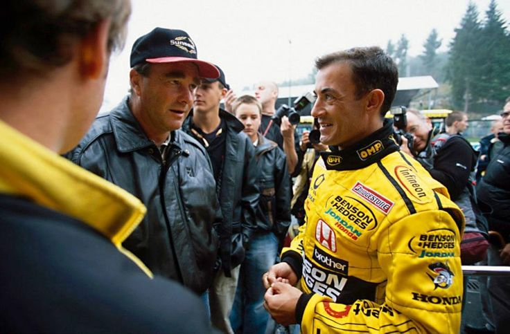 Nigel and Jean Alesi