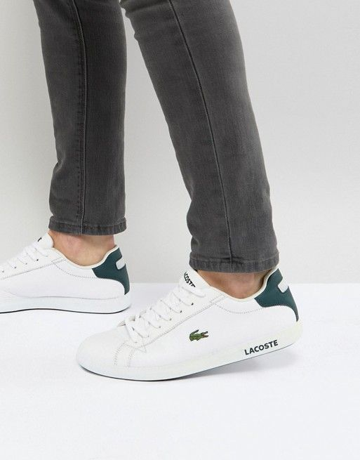 622f12b47ccb8f Lacoste Graduate Leather Sneakers In White  Sneakers