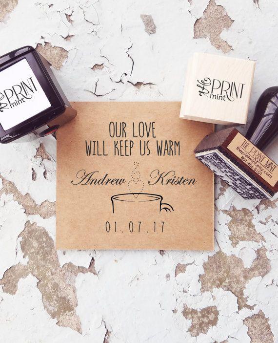 Hochzeit-Stempel heiße Schokolade Briefmarken von ThePrintMint