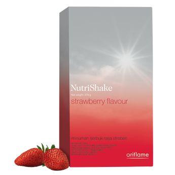 NutriShake Strawberry rasanya segar diminum dalam keadaan dingin. Kemasan 378gr untuk 21 kali penyajian Informasi gizi per porsi, 18g: Energi 65kcal/280kJ Protein 7,5 g Karbohidrat 6g Lemak 1,5 g  http://ecatalogue.oriflame.co.id/istantripratiwi