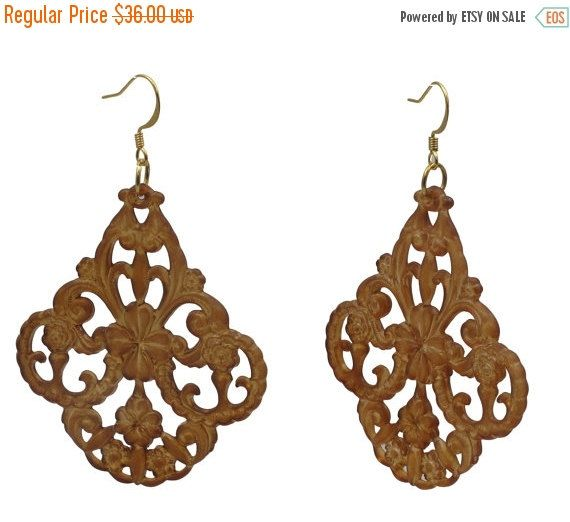 Brown Earrings Brown Chandelier Earrings Lucite Brown