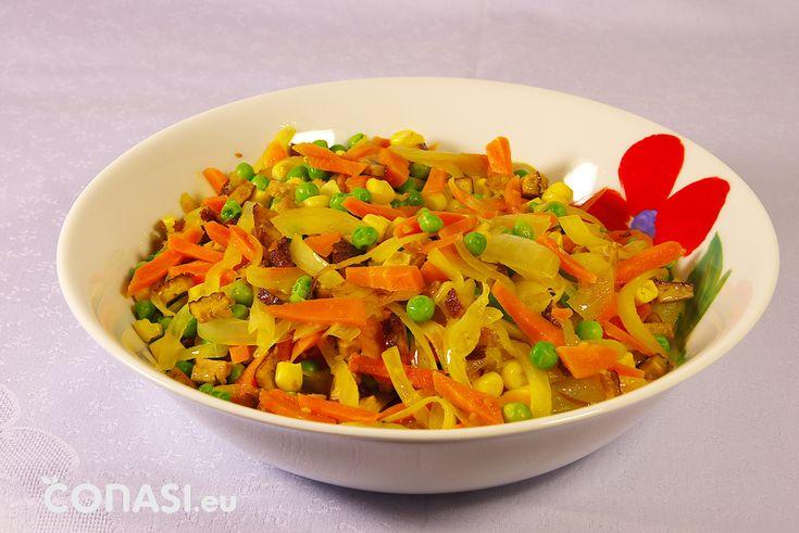 Verduras salteadas en el wok