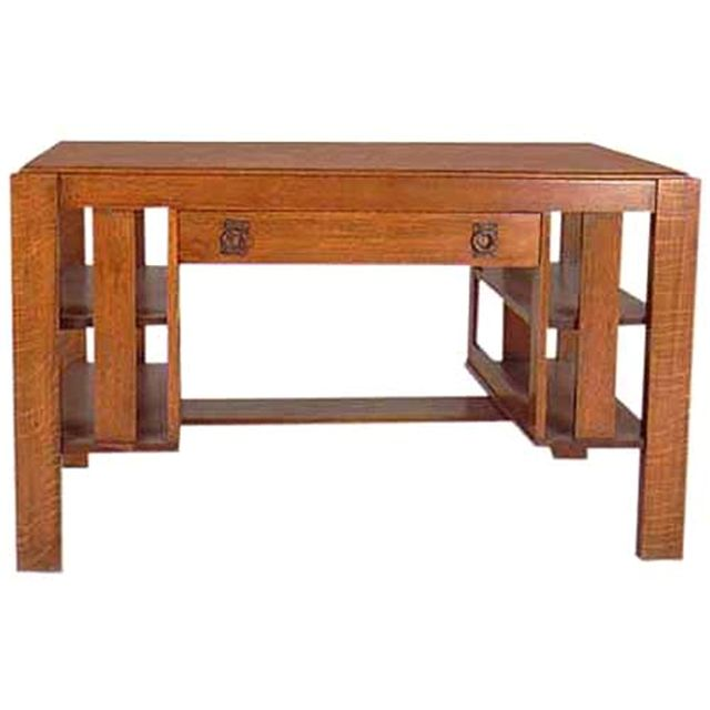 Mission oak desk with central drawer and side shelves. This is a very  nicely styled - 73 Best Antique Desks Images On Pinterest Antique Desk, Antique