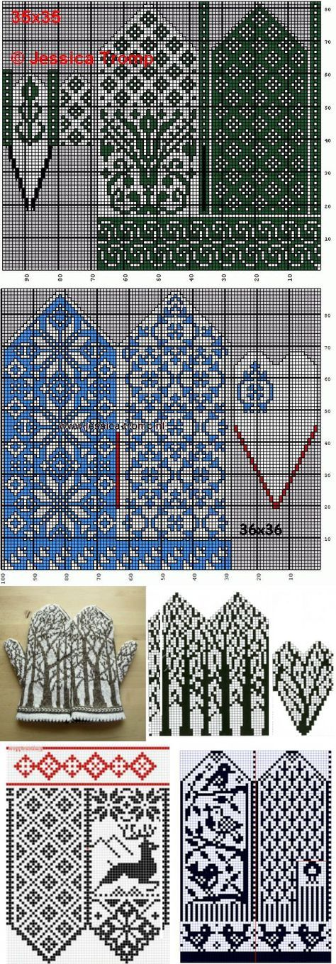 mitten graphs, star floral and trees