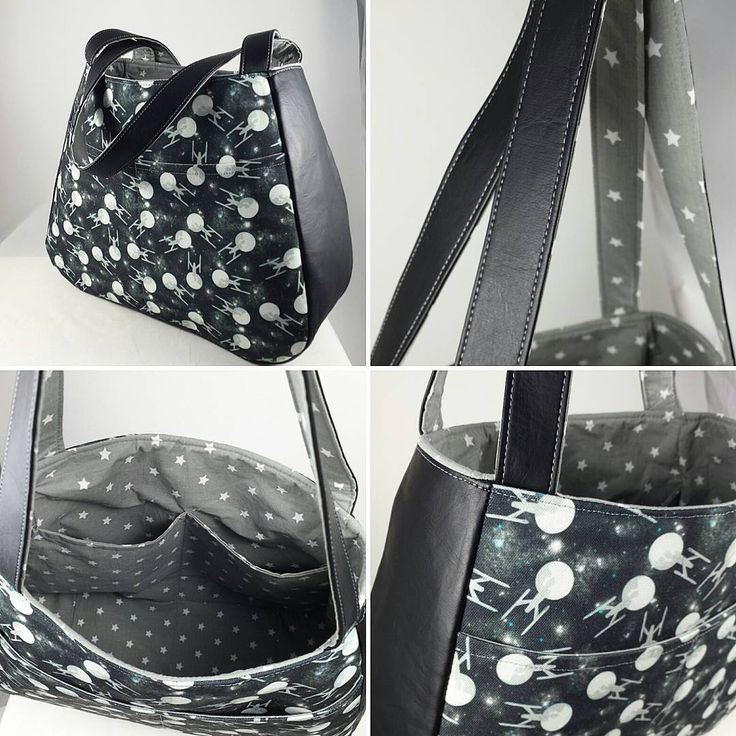 "A wonderful first Swoon bag - Ethel in a wonderful Enterprise ""polka dot"" type pattern! Perfect for stylish Trekkies looking for an easy to fill purse or day bag!"