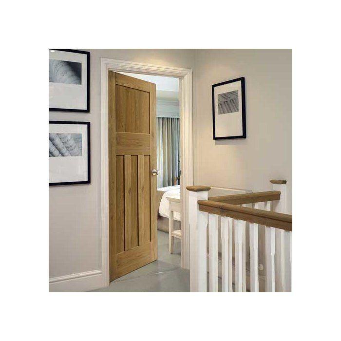 Rustic Oak 4 Panel Internal Door