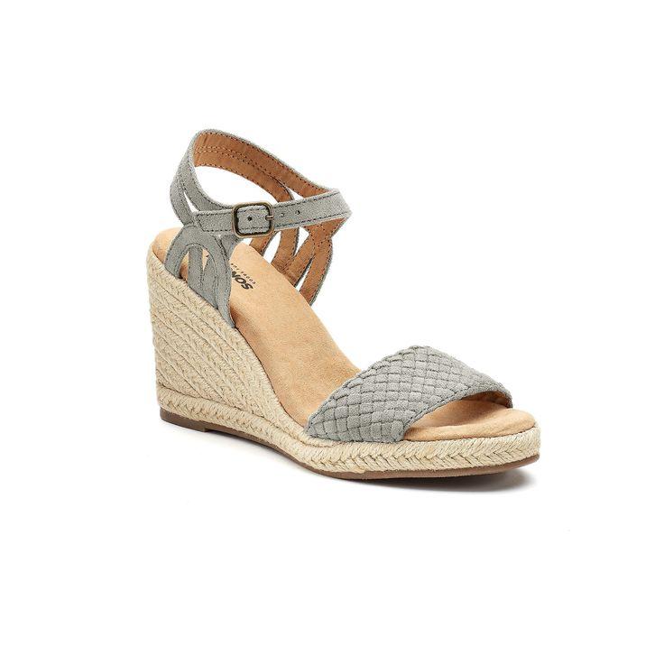 SONOMA Goods for Life™ Anet Women's Espadrille Wedge Sandals, Size: medium (9.5), Light Grey