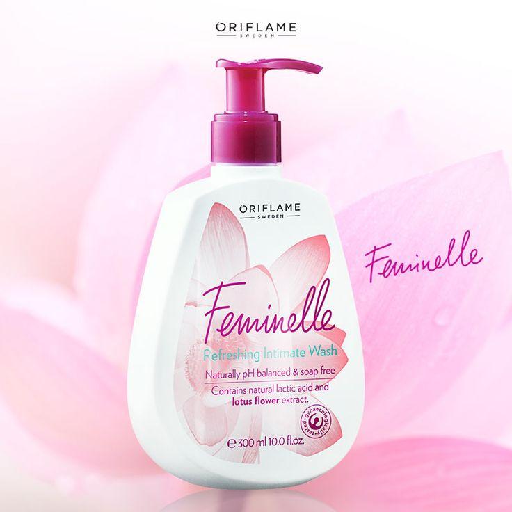 Feminelle está ginecológicamente testeado y contiene vitaminas y extracto de flor de loto para mantener tu pH balanceado y una sensación fresca todo el día . ¡Cuida esa delicada piel!  #OriflameMX #Feminelle