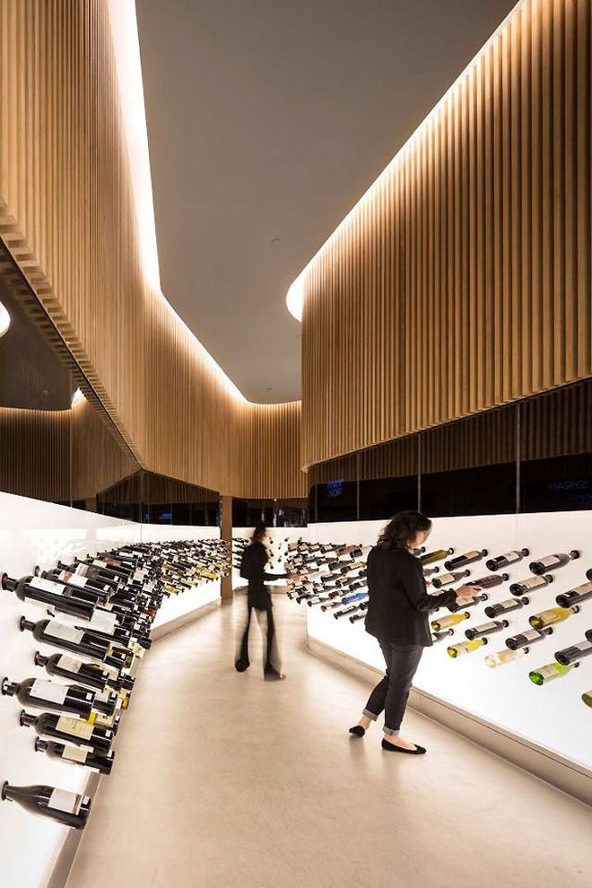 Really beautiful – if a little intimidating, and potentially catastrophically fragile – wine store.
