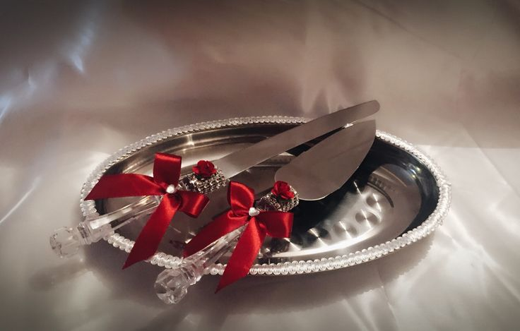Cuchillos para pastel de novios