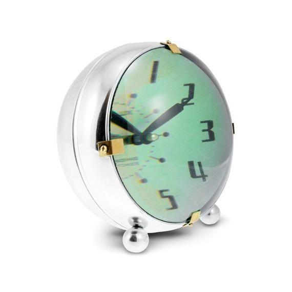 Orbit Table Clock Chrome Desk Clock Vintage Industrial Etsy In 2020 Table Clock Clock Vintage Clock