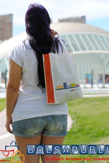 bolsas impresas de tela blancas
